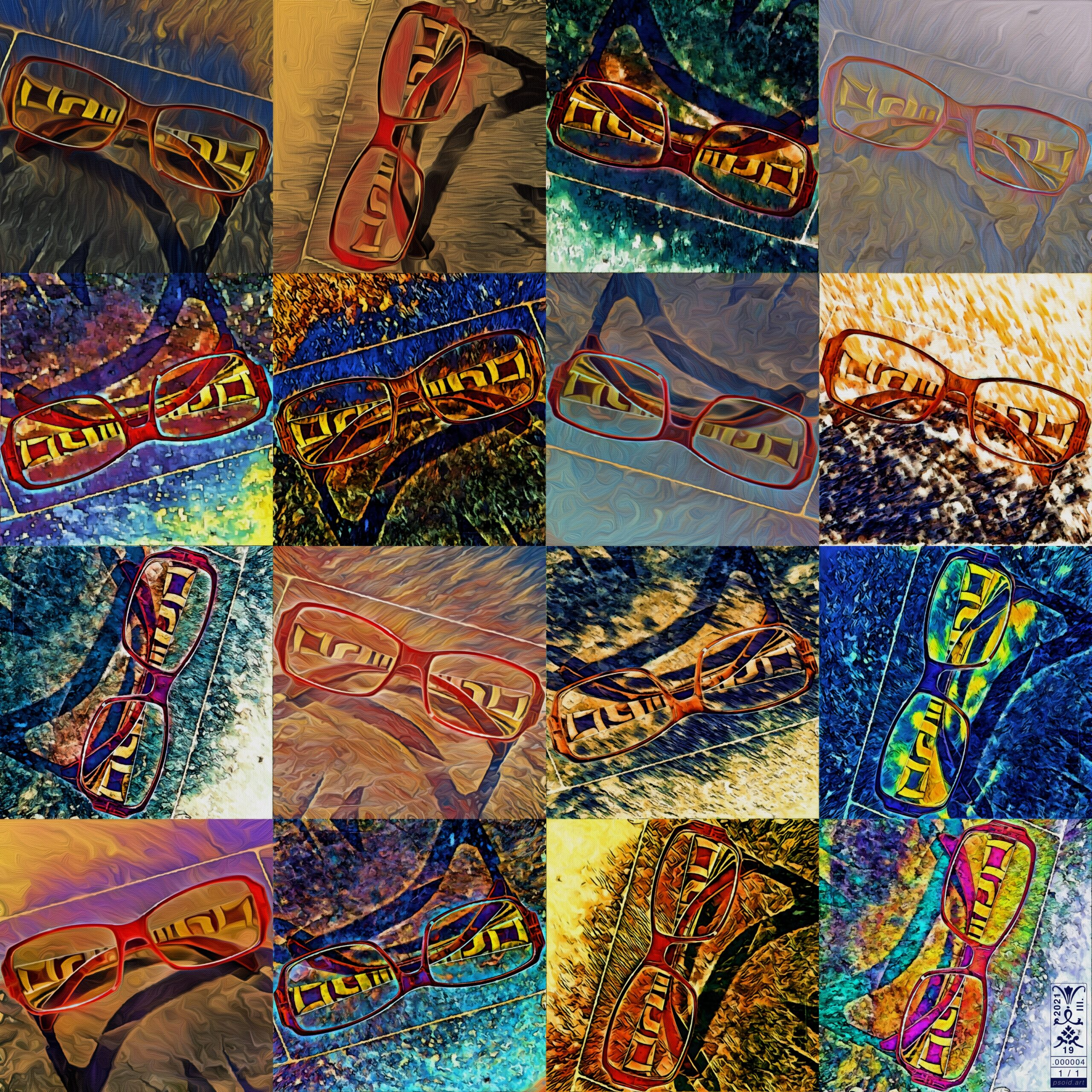 Mosaic: Enmempin's Spectacles - A RA-PS01D on psoid.art by Enmempin N. Midelobo